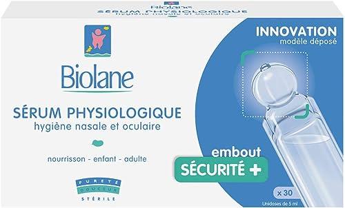 Biolane – Sérum Physiologique – pour Nettoyer Le Nez Ou Les Yeux Du Bébé en Toute Sécurité – 30 Unidoses