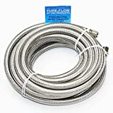 Universal Stainless Steel Braided Water Line | 20' Length | 1/4' Connection