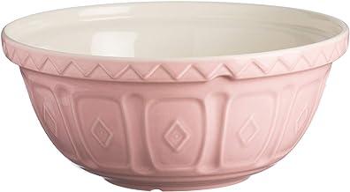 Mason Cash Colour Powder Pink S18 Chip Resistant Earthenware 26cm Mixing Bowl, Stoneware, 2 Litre/24 cm