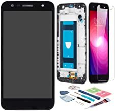 XR MARKET Compatible LG SP320 Screen Replacement, LCD Display Touch Screen Digitizer Assembly for LG X Power 2/LG X Charge US601/LG K10 Power/LG M320G +Tools, Glue, Screen Protector(Black W/Frame)