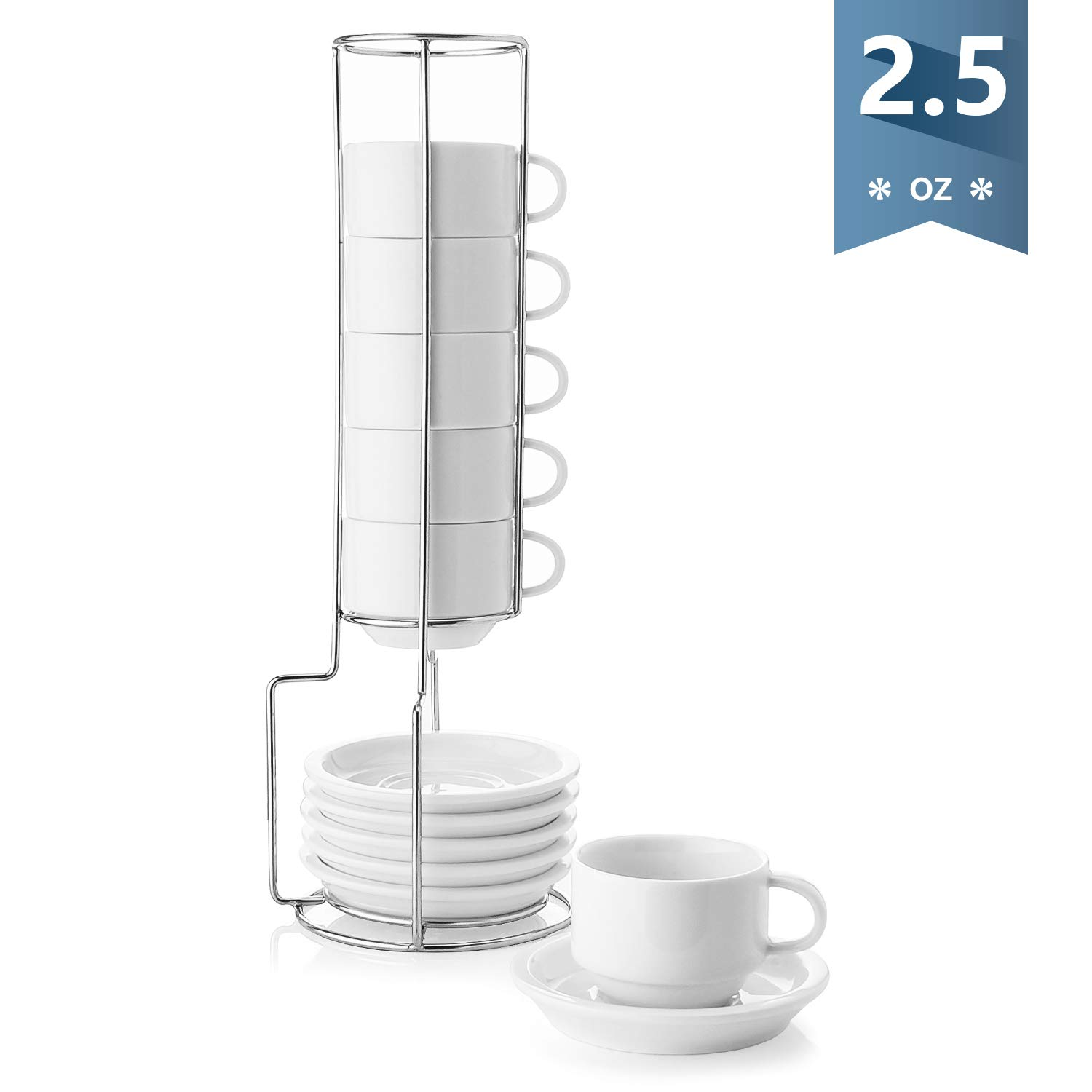 Sweese 404 001 Porcelain Stackable Espresso