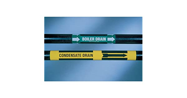 3//4 to 2-3//8 Brady 7103-4 Pipe Marker Yellow Feed