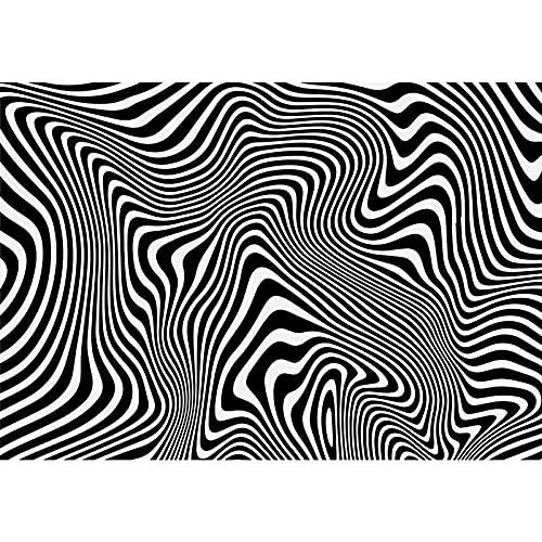 Rompecabezas De Desafío A Rayas En Blanco Y Negro 2000 Pieza Puzzle-Puzzle De Adultos 500-6000 Pieza Adulto Puzzle-Juego Juguete Regalo(Color:2000 Pieces)