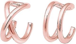 Elli Pendientes para damas forma gemétrica minimalista en plata de Ley 925