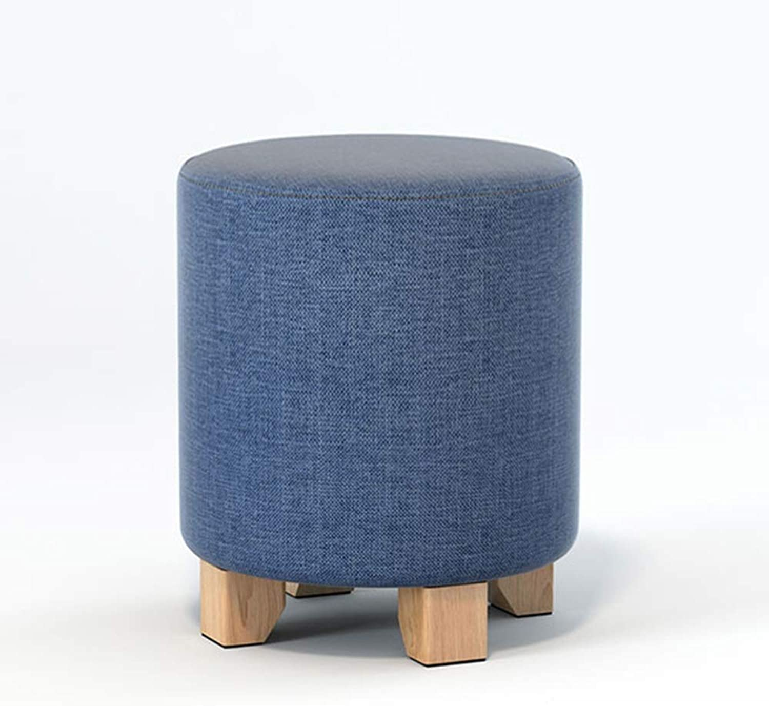XRXY Footstool, Solid Wood Bench, Living Room Sofa Stool, Cloth Small Stool, Small Sitting Pier, Household Low Stool, 30 35 cm Height, 9 colors (color   B, Size   35CM)