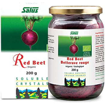 Flora Organic Red Beet Root Powder Soluble Crystals 7 Ounce - Concentrated Circulation Superfood - Nitric Oxide Nitrate Supplement - Non GMO by Salus