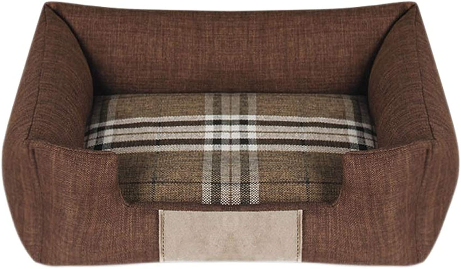 Pet Bed four Seasons Universal Removable and Washable (color   Brown, Size   86  63  12cm)