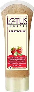 Lotus Herbals Berry Scrub Strawberry And Aloe Vera Exfoliating Face Wash, 120g