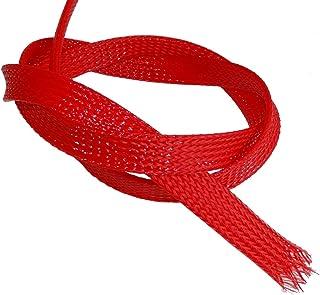 Ricable Custom OR08//20 Orange//Rouge 20m Gaine de Protection tress/ée pour c/âble 4-10 mm