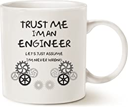 MAUAG Funny Engineer Coffee Mug Unique Christmas Gifts Idea, Trust Me, I'm an Engineer Ceramic Cup White, 11 Oz