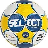 SELECT Pallone da Pallamano Ultimate Replica EC Women, Handball Ultimate Replica EC Women, Blu/Giallo/Bianco, 0