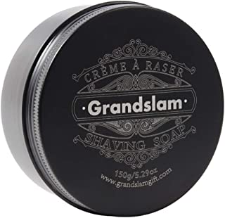 Grandslam Shaving Soap for Men, Natural Goat Milk Moist Clean 150g/5.29oz Shave Soap For All Skin Shave Cream Non-sensitive Formula, White
