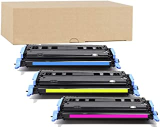 ADE Products Premium Compatible Toner Replacement for HP 124A Color Set, (Cyan, Yellow, Magenta) for HP Color Laserjet 1600 2600 2605 2605dtn 2605dn 2600n CM1015 MFP CM1017 MFP Series Printers
