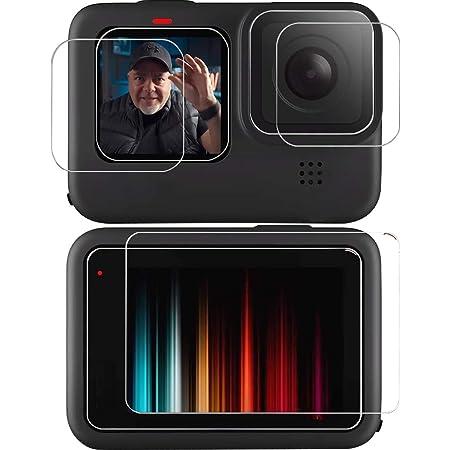 Lebama Schutzglas kompatibel mit GoPro Hero 9 Black Schutzfolie Zubeh/ör Displayschutzfolie Displayschutz Premium Klar 9H Displayfolie Objektivschutz 3 x Display Glas Folie f/ür GoPro Hero 9 Black