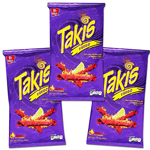 Takis Fuego Family Size Party Pack -- 29.7 Ounces Total (3 Bags, 9.9 Ounces Each) (Family Party Pack -- 29.7 Ounces)