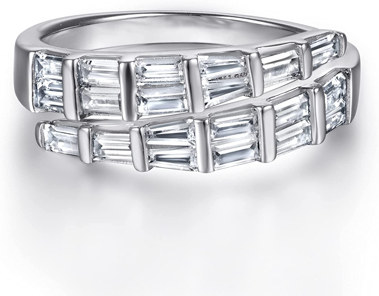 New 925 pure silver ring cubic [Alternative dealer] fashionable Las Vegas Mall and European American