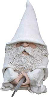 Portonss Peeing Gnome Statue Wizard Resin Figurine Wizzing Wizard Fountain White Wizard Garden Gnomes 12cm