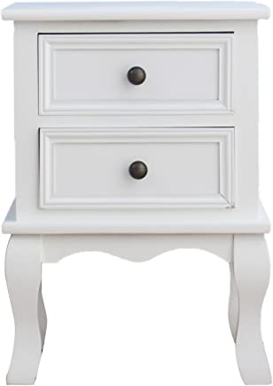 Amazon.co.uk: White - Bedside Tables / Bedroom Furniture: Home & Kitchen