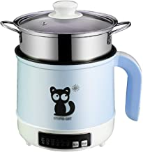 Rice cooker (1,7 l / 600 W) Huishoudelijke mini-rijstkoker, met stoom en automatische warmteconservering, voor 1-2 persone...