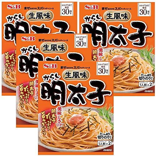S&B 生風味スパゲッティソース からし明太子 53.4g×4袋