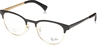 Ray-Ban Women's Rx6317 Metal Round Prescription Eyeglass Frames