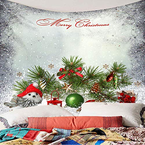 DHHY Christmas Polyester 3D Printed Tapestries, Christmas Series Digital Printed Tapestries, Household Decorative Tapestries, Beach Towels