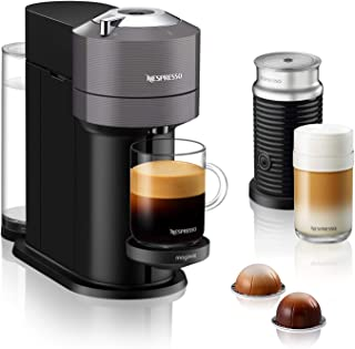 Nespresso Vertuo Next with Aeroccino, by Magimix - Dark Grey, 11711 - 3 Months of Coffee and an Aeroccino