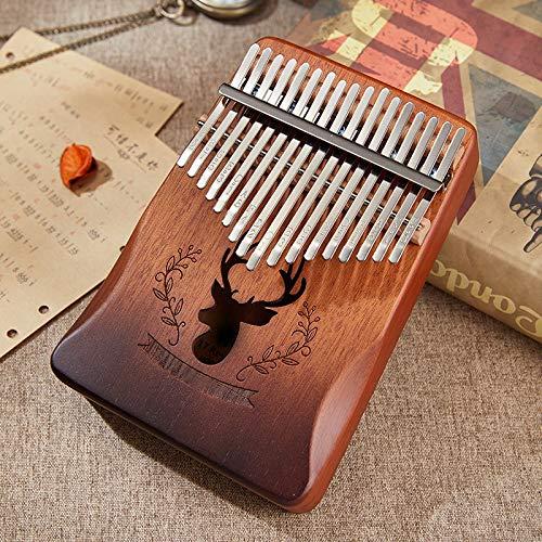 Kalimba, Daumenklavier 17 Keys Kalimba Mahagoni Daumenklavier 17 Llaves Mbira Afrika Finger Piano Musical Instrumentos (Color : Deer brown)