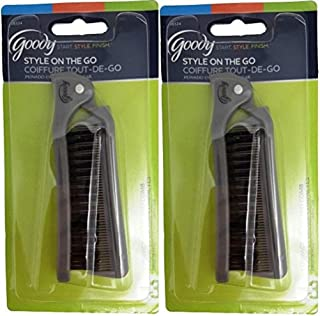 Goody Style On The Go Folding Brush & Comb, Colors May Vary 1 ea (Pack of 2)
