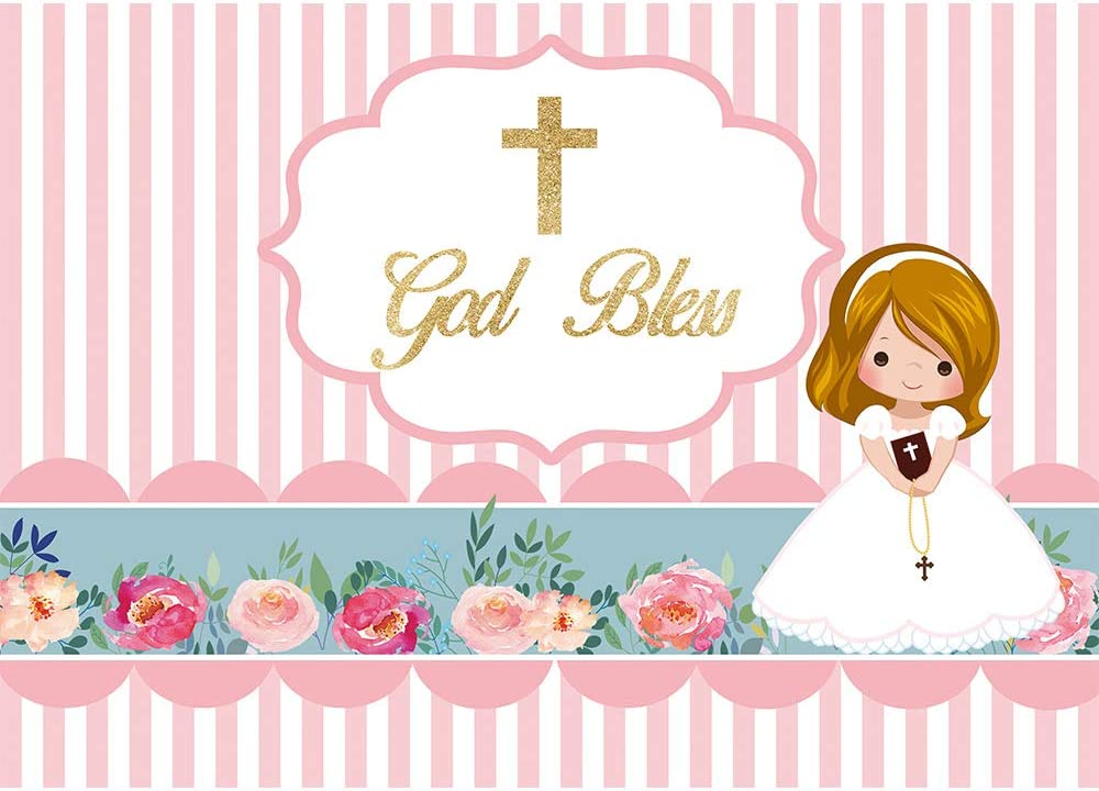 New York Mall Allenjoy 7x5ft First Communion Baptism Factory outlet Bless Backdrop God Infant