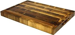 Mountain Woods Brown Extra Large Organic End-Grain Hardwood Acacia Cutting Board w/Juice groove - 19