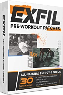 Pre Workout Patches - EXFIL Pre-Workout Amino Energy, Supplement Complete Preworkout for Men and Women - 30 Day Supply