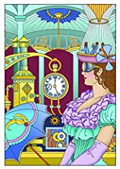 Dover DOV-99197 Steampunk Coloring Book (Creative Haven Coloring Books) #1