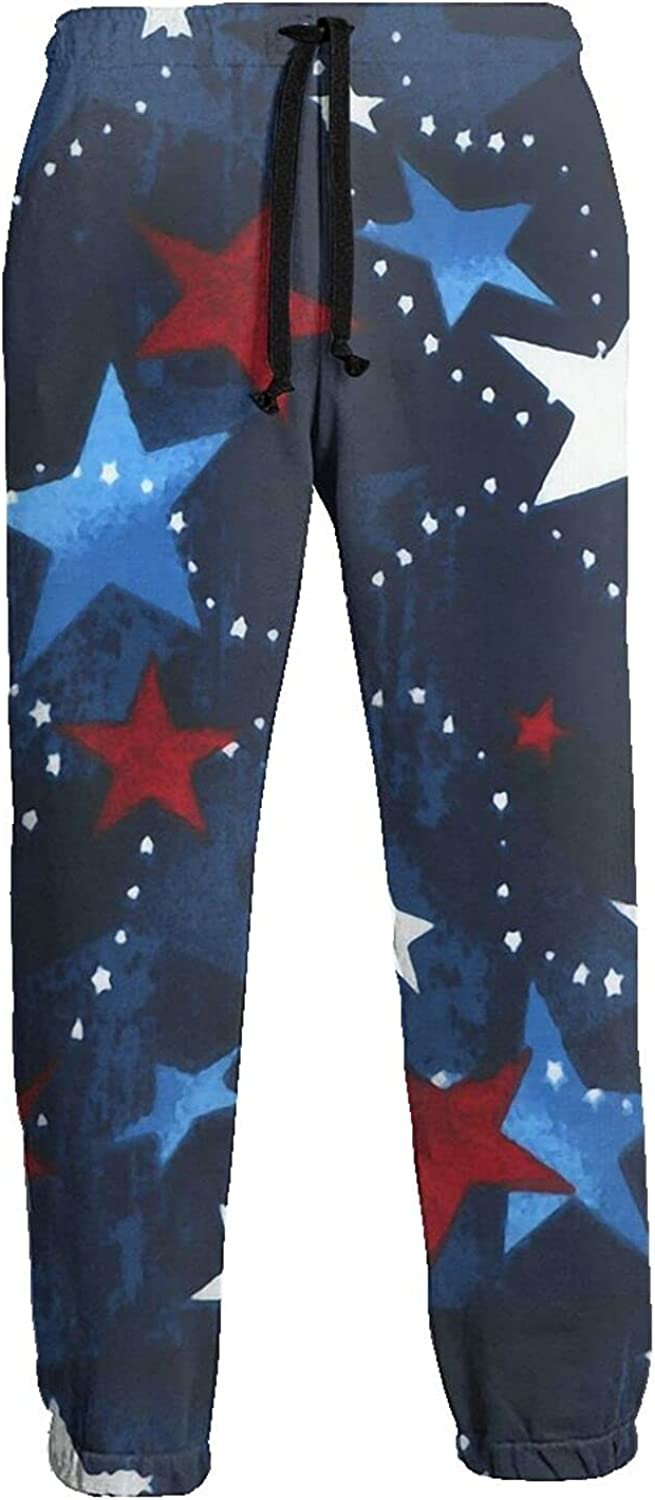 Active Sweats Jogger Pants Red Blue White Star Running Joggers Casual Sweatpants for Men Women