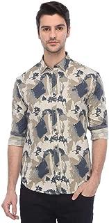 Ed Hardy Mens Slim Collar Printed Shirt