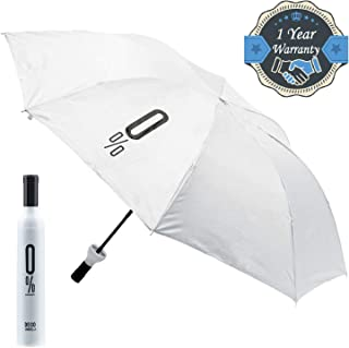 PIQTEQ Wine Bottle Deco Umbrella Travel Fashion Folding Sun Rain Umbrella Windproof Sun Shade Bottle Umbrella (Assorted Colour)