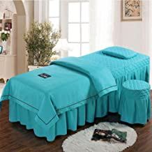 Mattress for Beauty Salon Bed Skirt,SPA Massage Bed Cover Reactive Printing and Dyeing Zipper Design,with Face Rest Hole