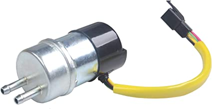 PLDDE New 1pc High Performance DC 12V Electric Gas Intank EFI Fuel Pump Assembly Replacement With Wiring Plug Connector Fit Suzuki/Kawasaki Multiple Motorcycle