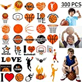 Oringaga 300 Basketball Temporary Tattoos for Kids - Sports/Basketball Birthday Baby Shower Party Supplies Goodie Bag Stuffers Favors Prize Motivational Stickers(24 Sheets)