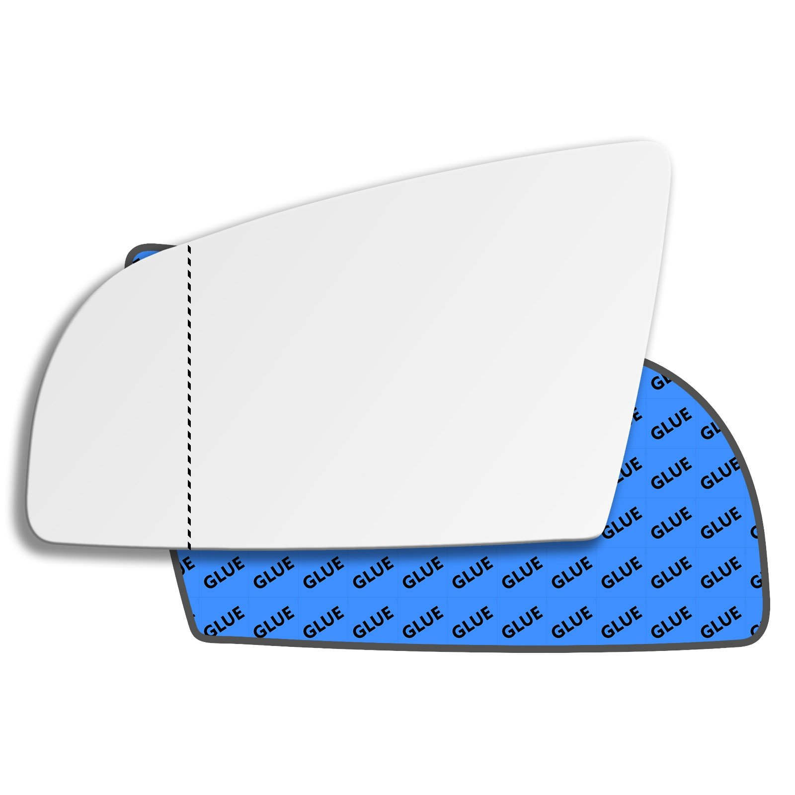 Hightecpl 424LAS Left Hand Passenger Near Side Wide Angle Door Wing Mirror Glass Replacement