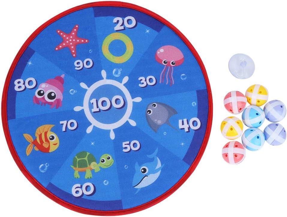 Kugga Dartboard for Children Flannelette Cartoon Durable Lightwe