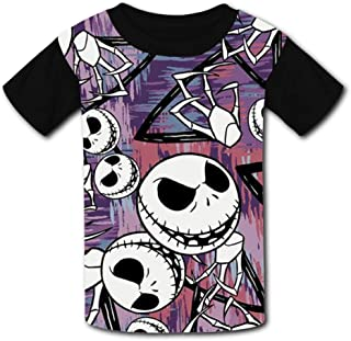 Abbott9 Flower Kids Fashion 3D Printing Short Sleeve Unisex Child Crew Neck T-Shirts