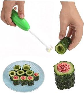 Amoyer Hand Obst-Kern-Remover-Satz für Gemüse Dig Bohrlochöffner entkernen Geräte Separator Gemüse Drill Küchenzubehör