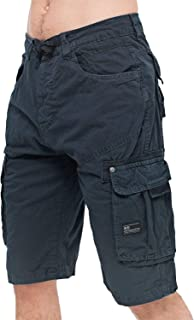 a051561f96 Crosshatch Mens Knee Length Combat Cargo Chino Cotton Shorts