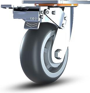 Zwenkwiel, rubberen zwenkwiel Zwaar uitgevoerde zwenkwielen, geruisloze zwenkwielen, vervangende zwenkwielen voor karren, ...