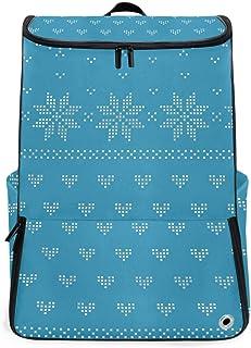 MALPLENA Mochila de Senderismo para Camping al Aire Libre, Azul clásico Estilo nórdico Estilo Mochila de Viaje