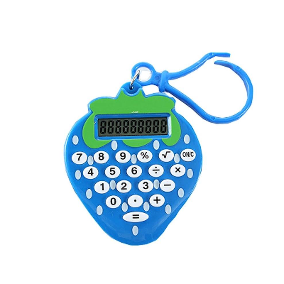 寄託セブン完璧なクリエイティブプラスチック材料ポータブルキャンディーカラーミニ電卓 - ストロベリーブルー