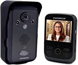 Seco-Larm DP-266-1C3Q ENFORCER Wireless Video Door Phone, Full Duplex Voice Communication, Unlocks Doors or Gates Via The Monitor, 480 TV Lines, IR Enabled for Nightime Operation