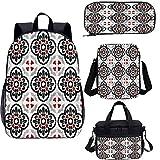 Ensemble de sacs à dos pour adolescents de 43,2 cm - Motif mosaïque géométrique primitif - Pour...