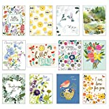 """Gina B Designs - Pack of 12 Assorted """"Thinking of You' Greeting Cards"""